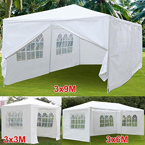 tinkertonk 10'x30'/3mx9m Party Wedding Outdoor Patio Tent Canopy Heavy Duty Gazebo Pavilion Event, With 8 Removable sidewalls,White