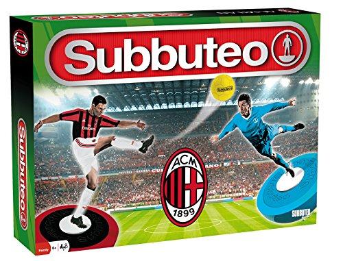 Subbuteo- Playset AC Milan, Colore Rossonero, Ninguna, 63942