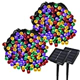 Yasolote 2 Pack 22M Guirlande Lumineuse Solaire 200 LED (Couleur)