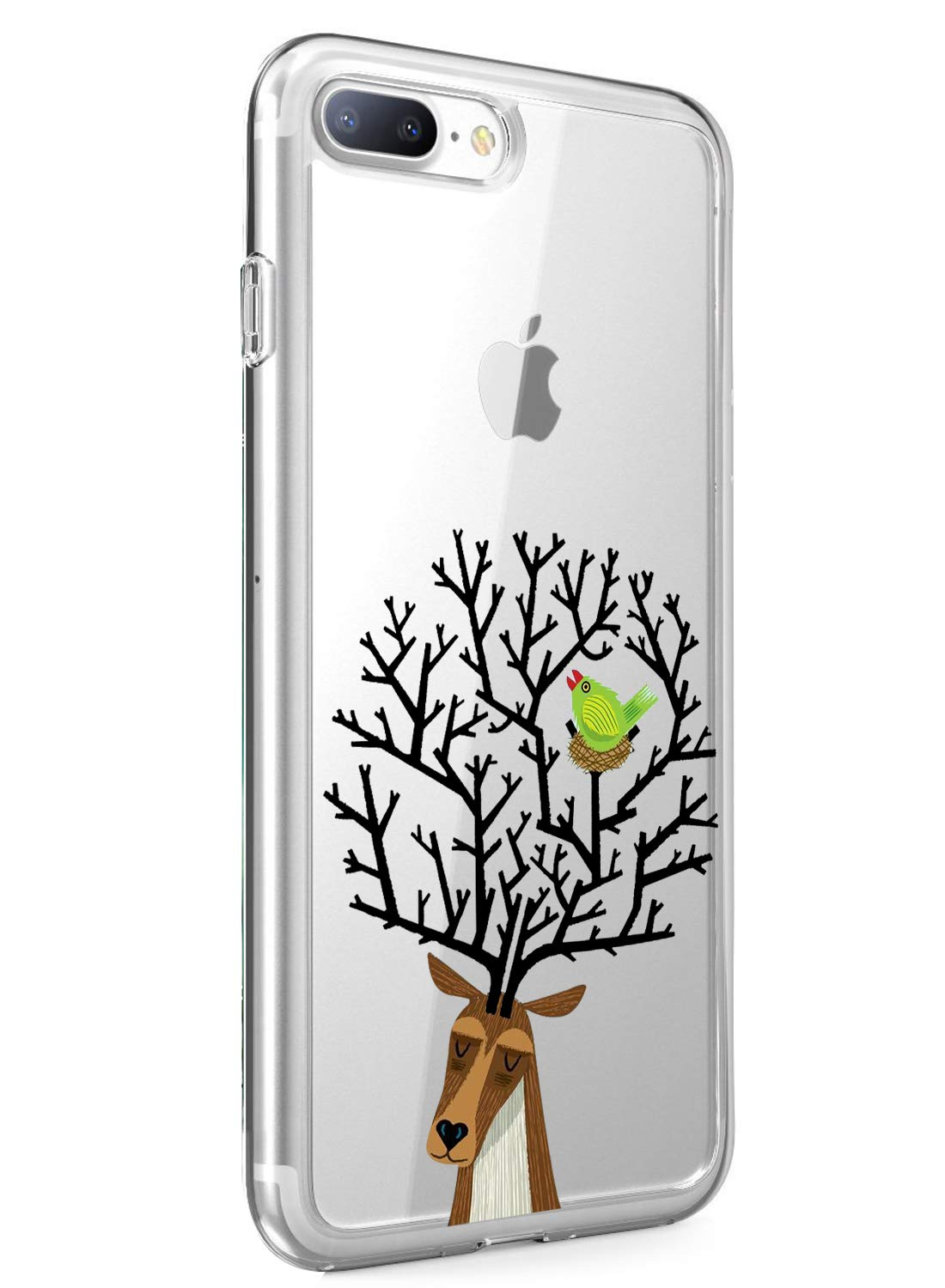 Oihxse Compatible with iPhone 6+/8+ 5.5'' Case Cover Crystal Clear Ultra Slim Lightweight Soft TPU Gel Bumper, Chic Fashion Pattern Design Transparent [Original Beauty] Shockproof Skin, Magpie Elk Oihxse ✨【SLIM FIT】ONLY compatible with iPhone 7+/8+Plus without bubbles, bubbles smudges, slippy and clinging, which provide a great hand feel & comfortable grip, easy put in and take off from pockets. ✨【CRYSTAL CLEAR】Cute and stylish pattern prints on the crystal transparent slim IPhone 7+/8+Plus case, not only shows off the original beauty but adds more chic, fashion and elegant sense, makes you stand out from crowd and eye-catching. ✨【PREMIUM MATERIAL】Made from nontoxic and tasteless flexible TPU material, non fade and peel off. It can resist Iphone 7+/8+Plus bumps, drops, scratches, impacts, shocks and fingerprint. 1