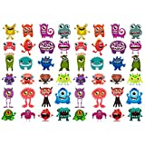 Oblique-Unique® 48 lustige bunte Monster Sticker Aufkleber -
