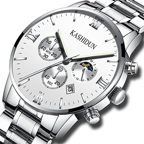 Kashidun Herren-Handgelenk Quarz Uhren CLASSIC Schweizer Uhr Fall Box Stahl Band für Herren zh-ybg