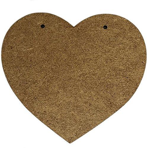 2 x Grande Corazónes Madera Decoracion | 220 x 200