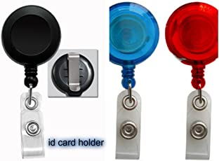 TCL Retractable Reel ID Card Holder Get 15Pcs Id Identity Badge Card Holder Yoyo Pulley Cord Retractable Oscillate Spring