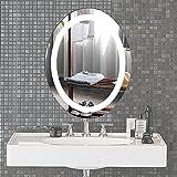 CO-Z Badspiegel LED Badezimmerspiegel Wandspiegel Lichtspiegel Schminkspiegel Spiegel LED Lighted Bathroom Mirror mit Beleuchtung Touch Schalter Anti Nebel Wasserdicht 56cm x 71cm