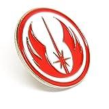 Spilla in metallo smaltato, motivo: Star Wars Order of Jedi Warrior Insignia (rosso e bianco)