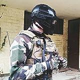 OneTigris, casco tattico di protezione, tipo PJ, con occhiali protettivi maschera in rete, per...