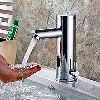Aimadi Mixer Tap Infrared Sensor Automatic Bathroom Water Saving Waschtisha Mixing Valve Battery-Operated Chrome
