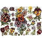 Creativ 19329 - Imágenes brillantes (16,5 x 23,5 cm, 3 hojas), diseño de flores