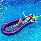 YOSPOSS gonfiabile Pool float Raft melanzana, gonfiabile galleggiante riga sedia acqua letto gonfiabile piscina galleggianti, esterni piscina gonfiabile Zattera per adulti e bambini, 169,9x 112,5cm