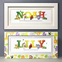 Framed Name Gifts, Baby Name Gifts, Name Prints, Name plaques