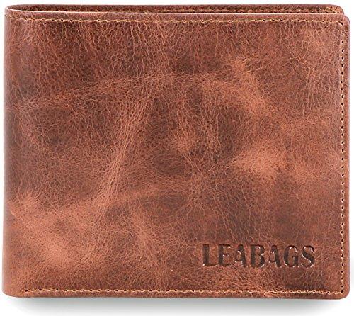 LEABAGS Springfield portafoglio vintage in vera pelle di bufalo - CrazyVinkat
