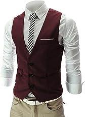Cenizas Men's Cotton Waistcoat MWCW004GRY44_Grey