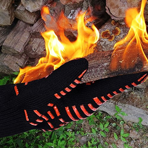Extreme Heat Resistant Gloves - Heat Proof BBQ Grilling Gloves  - 1 Pair