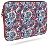 LEBENSLANGE GARANTIE Laptop tasche - Laptop Hülle - Stil Blume - STOSSFEST / WASSERDICHT - Laptoptasche / LaptopHülle Tasche Macbook - Macbook Air - Ipad Pro - Ipad Air - RED CANARY - 13 Zoll 13.3 Zoll - Sehr Beschützend