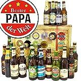 Bester Papa   Bier Adventskalender mit Bieren der Welt und Deutschland INKL gratis Bierbuch   Geschenkidee für besten Papa bester Papa der Welt Geschenkset Geschenke für den Vater Papa Geschenk persönliches Geschenk für Papa Geschenkideen für Papa gutes Geschenk für Vater