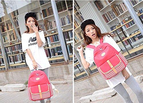 Unisex Canvas Leichte Laptop-Tasche / Schulter Daypack / Strap Schulrucksack / beiläufige Handtasche (Himmelblau) Rot