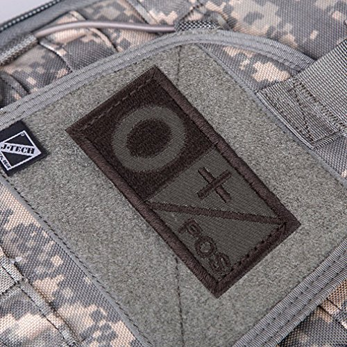 Hemore 3D Blood Type Patch A B AB O POS Neg Coyote Tan OD Green Patch für Outdoor (Negative-patch Type O)