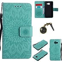 PU Cuir Coque Strass Case Etui Coque étui de portefeuille protection Coque Case Cas Cuir Swag Pour Samsung Galaxy A3 (2016) A310 (4,7 pouces) + Bouchons de poussière (4FF)