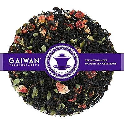 """N° 1380: Thé noir """"Crème aux fraises"""" - feuilles de thé - GAIWAN® GERMANY - thé noir d'Inde, Chine, fraises, fraises"""