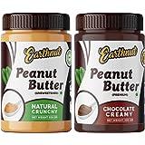 Earthnut Peanut Butter Combo Crunchy Chocolate (Non-GMO, Gluten Free, Vegan)(500g + 500g) 1 kg