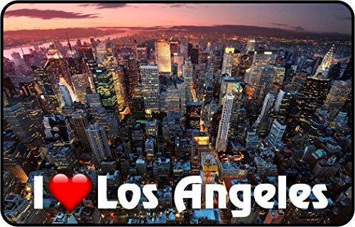 Cadora Magnetschild Kühlschrankmagnet I love Los Angeles II - Angeles-becher Los
