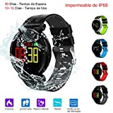 Smart Watch, Reloj Inteligente de Pulsera Muñeca Impermeable de IP68 Deportivo Bluetooth 4.0 Uso de 10-15 Días con Pantalla HD Colorida y Correa Reemplazable para Android & IOS iPhone 8/x