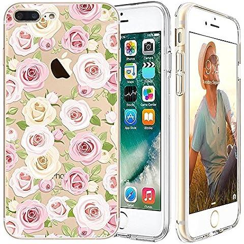 iPhone 7 Custodia,Apple iPhone 7 (4.7 inch) Custodia,Richoose iPhone 7 TPU [Slim Fit] Cancella TPU Gel Della Gomma Custodia Protettiva,Cassa del Respingente Crystal Clear Trasparente Custodia Protettiva per iPhone 7 4.7 inch - Pink camellia