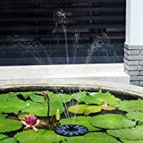 61vT wBF77L. SL160  - NO.1 GARDEN VicTop New 1.4W Solar Powered Fountain Pump with Floating Design & Improved Nozzle, Brushless DC Water Pump for Water Cycle, Pond pool Garden, Rockery Fountain, Waterfalls, Landscape and Water Displays Best price Review