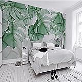 Weaeo Schildpatt Zurück Gemalt Tropischen Pflanzen Fernseher Sofa Hintergrund Wand Benutzerdefinierte Großes Wandbild Tapete Grün 200 X 140 Cm