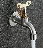 Schloss mit Anti-Diebstahl-Schlüssel Wasserhahn im Freien öffentlichen Edelstahl Wasserhahn