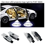 2 Pcs Led Car Door Welcome Light Welcome Lamp Logo Symbol Laser Projector Lights Ghost Shadow Light For Fiat Abarth Viaggio Punto Panda Bravo Linea Croma124 125 500 595 All Models