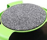 Katzenspielzeug mit Dreh Maus Kitten Spielzeug Spinning-Maus Um 360 ° drehbar mit Scratch Pad Verkratzen Klaue Pflege Mat (Grün) - 3