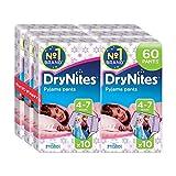 Huggies DryNites Mädchen Pyjama-Hosen, für 4-7 Jahre, 2 x 3er Pack (6 x 10 Stk)