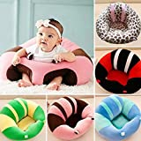 Funny Teddy Baby Sitting Training Seat/chair/sofa (0-1 Years) - Color Will Vary | Premium Cotton Quality | Nursing Feeding Pillow Dining Chair | Support Toddlers To Sit Safely | Kids Gift Toy (Black-white)