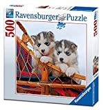 Ravensburger 15230 Puzzle Quadrato Cuccioli di Husky, 500 Pezzi