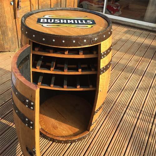 maciza-de-roble-barril-de-whisky-de-bushmills-balmoral-de-bebidas-vino-rack