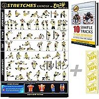 Eazy cómo a Stretch Banner Póster ejercicio entrenamiento grande 51x 73cm aumentar la flexibilidad, Afloje muscular, evitar lesiones gimnasio en casa gráfico