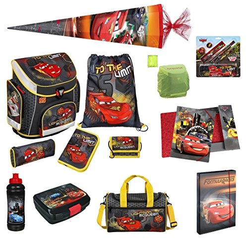 Disney Cars Schulranzen Set 20tlg. Federmappe, Sporttasche, Schultüte 85cm Scooli CAIM8251
