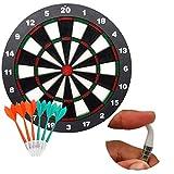 Soft Spitze Sicherheit Darts und Dart Board–Tolles Spiele für Kinder children- Profi-Dartscheibe Set (mit 6Stück SAFE Soft-Tip Darts)