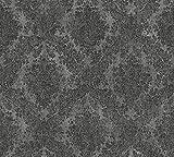 A.S. Création Vliestapete Secret Garden Tapete neo-barock 10,05 m x 0,53 m grau metallic schwarz Made in Germany 336078 33607-8