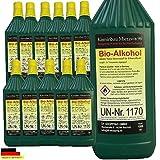 12 litros de bio-etanol de alto rendimiento / Con protección de menores y boquillas de rellenado en cada botella