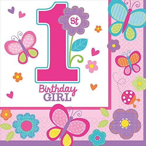 Sweet Mädchen ersten Geburtstag Servietten