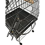 FoxHunter Large Metal Bird Cage Stand For Parrot Macaw Budgie Canary Finch Cockatiel Aviary Lovebird Parakeet With Wheel… 17