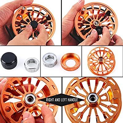 Sougayilang Fly Fishing Reel Large Arbor 2+1 BB with CNC-machined Aluminum Alloy Body and Spool in Fly Reel 5/6 by Sougayilang