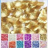 TtS 1000 Silk Rose Petals Flower Confetti Wedding Flowers Engagement Party Decoration - Gold
