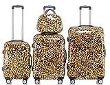 Polycarbonat Hartschale Koffer 2060 Trolley Reisekoffer Reisekofferset Beutycase 3er oder 4er Set in 12 Motiven