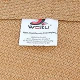 WOLTU Sonnensegel Rechteck 5x7m Sand atmungsaktiv Sonnenschutz HDPE Windschutz mit UV Schutz für Garten Terrasse Camping - 8