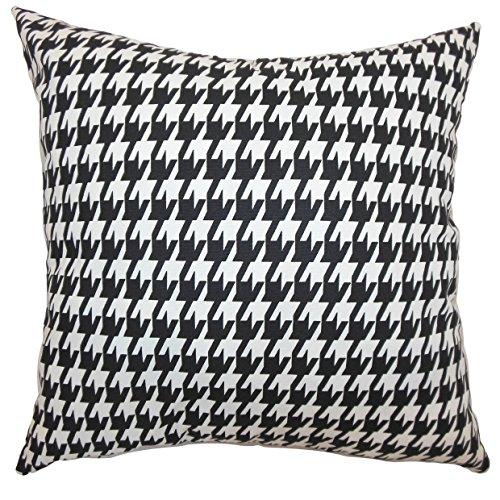 Das Kissen Collection king-ppf-lrg-houndstootch-black Ceres Hahnentritt Betten Sham, schwarz weiß, King/50,8x 91,4cm -