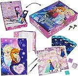 Unbekannt XL Set - Tagebuch & Geheimbox -  Disney die Eiskönigin - Frozen  - mit Schloß & Schlüssel - Aufbewahrungsbox + Buch + Stifte + Sticker + Briefpapier + Stemp..